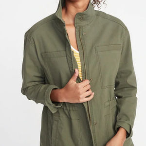 Old Navy Army Jacket Utility Olive XS Canvas
